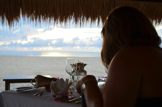 Shangri-La's Rasa Ria Resort & Spa: View from the Gazebo (from Coast) for a romantic meal