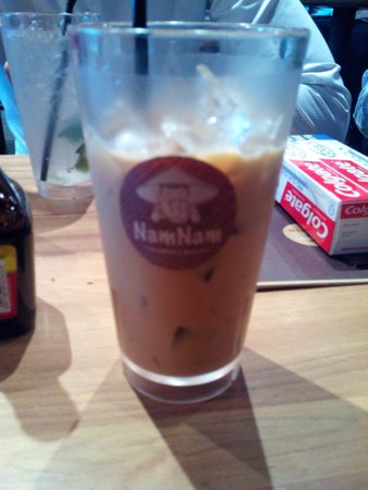 Nam Nam Noodle Bar: Iced Coffee - 2 thumbs up