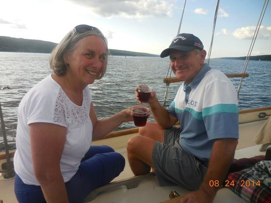 "Schooner Excursions, Inc: Toasting with a ""red cat"" wine from Hazlitt Winery"