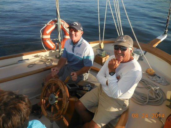 Schooner Excursions, Inc: I am at the helm of the Schooner