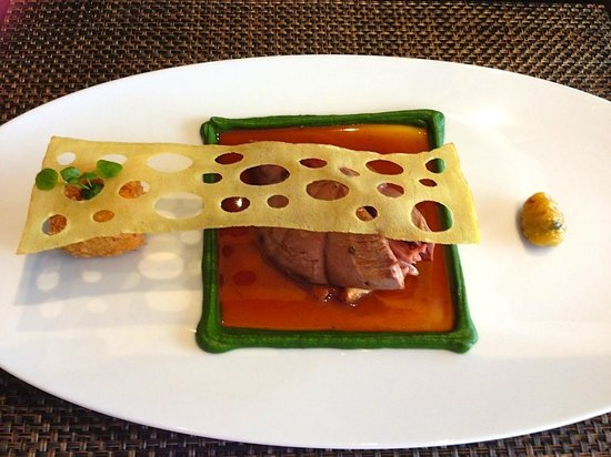 Castle Terrace Restaurant: Scottish Grouse,giroiles,bread sauce & watercress
