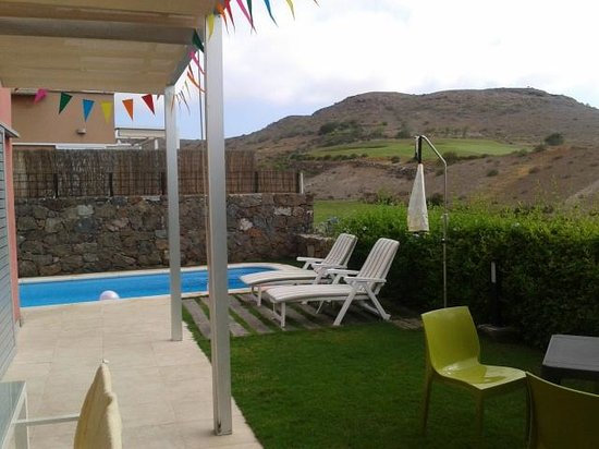 Salobre Golf Villas: Parte de la terraza