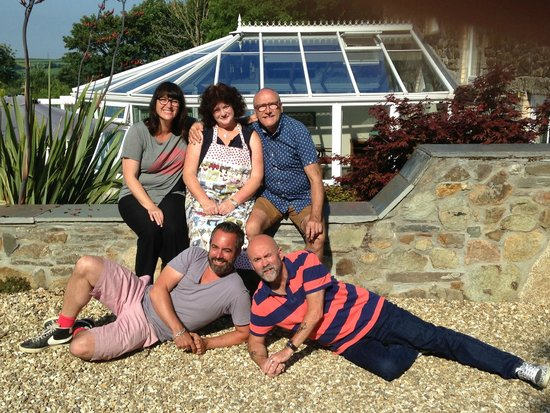 Good friends at Treveighan Farmhouse