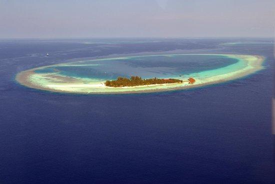 VOI Maayafushi Resort: l'isola vista dall'alto