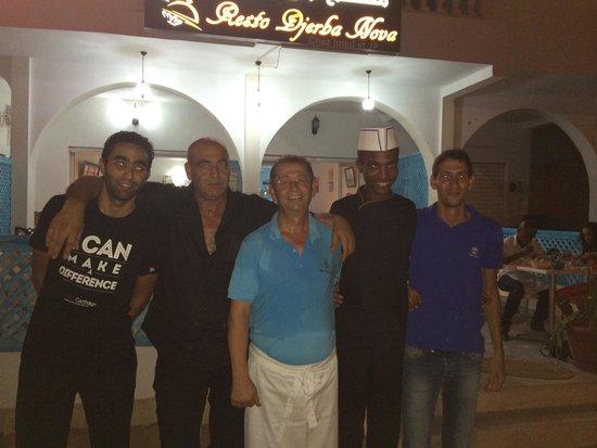 Djerba Nova: Chef Imed and staff
