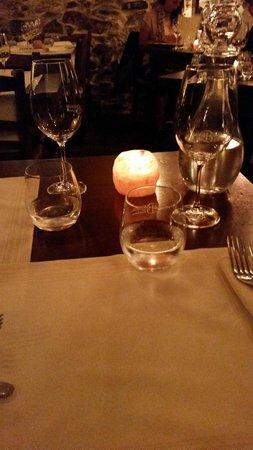 La Bucaccia: tavolo al lume di candela