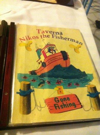 Nikos the Fisherman: Menu