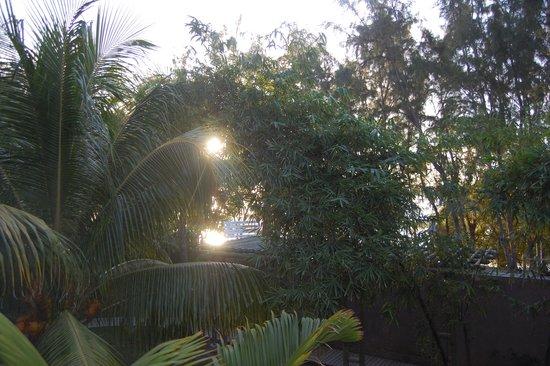 Coin de Mire Attitude : Coucher de soleil depuis la chambre face à l'océan