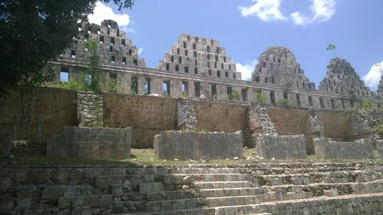 The Lodge at Uxmal: one small piece of the ruins next to the hotel