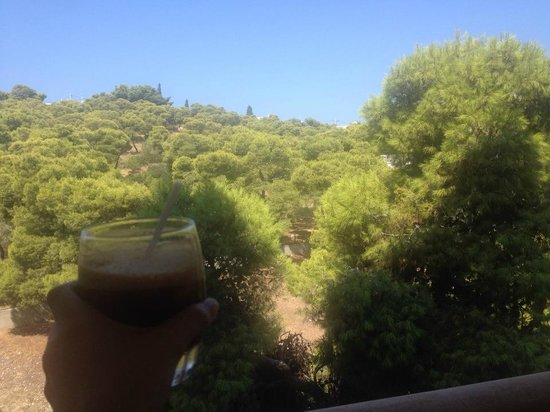 The Margi: Balcony overlooking the pine tree forest