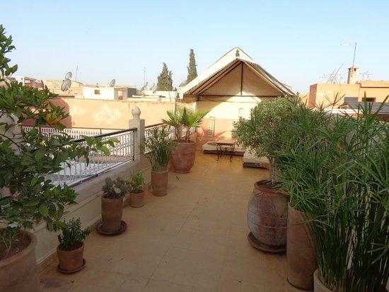Riad Aguerzame: Terrasse