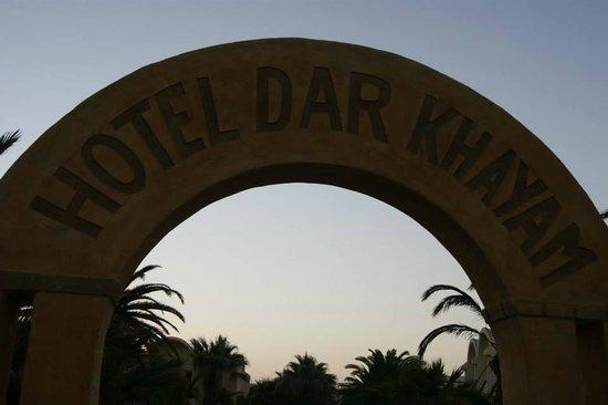Dar Khayam Hotel : hotel from beach