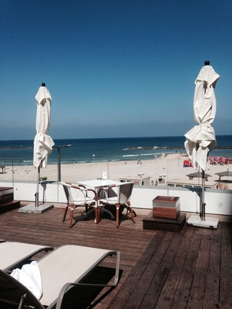 Orchid Tel Aviv : View from pool area of sea
