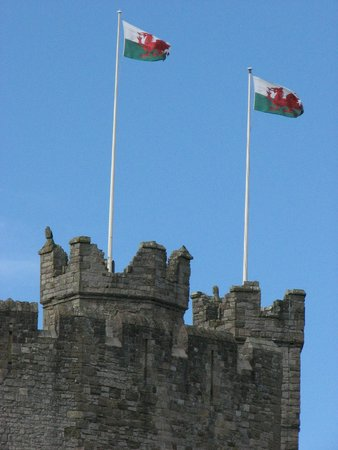 Welsh Flags Fly From The Battlements Picture Of Caernarfon Castle