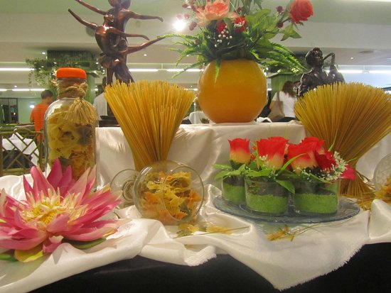Tropic Park: Esempi di decorazioni nella sala ristorazione che venivano cambiati ogni giorno