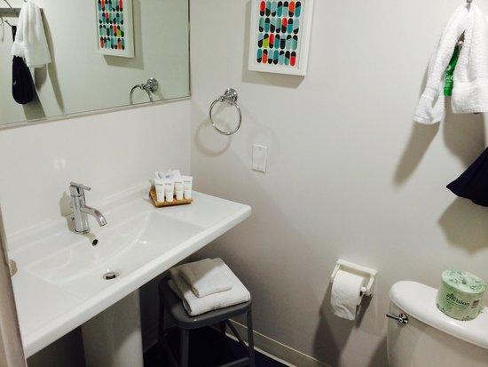 Custom Hotel: Banheiro ok