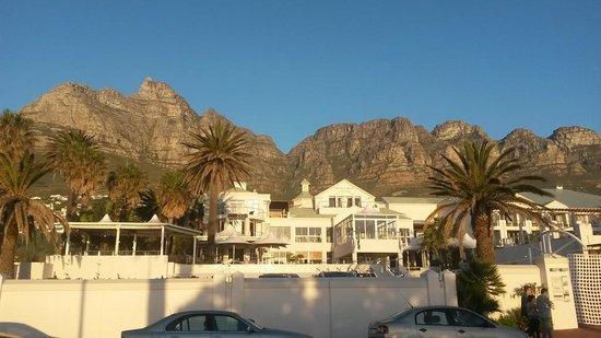 The Bay Hotel: Mountain backdrop