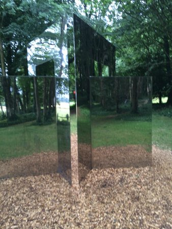 Cass Sculpture Foundation: Stainless steel creation