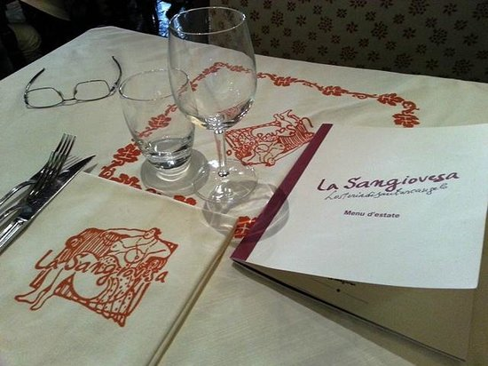 La Sangiovesa: tavolo