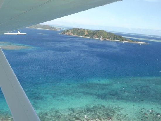 Castaway Island Fiji: Seaplane in,.. it's a great way to arrive