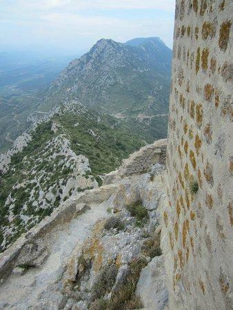 Château de Quéribus : mooie panorama's