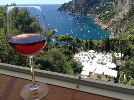 Terrazza Brunella: ロゼワインと眺望