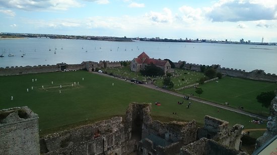 Portchester Castle: view from the top