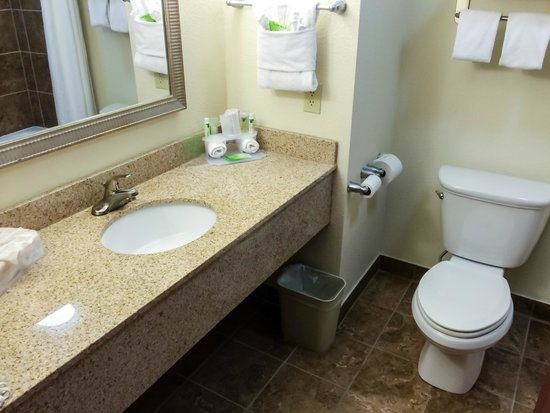 Holiday Inn Express Hotel & Suites Lafayette East: Spotless Bathroom