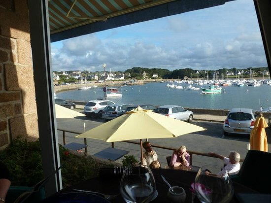 Hotel des Rochers: view from restaurant