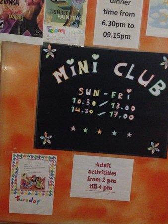 Plazamar Serenity Resort: Mini club 3-10 yrs