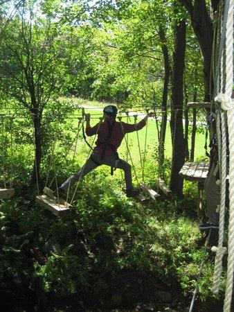 ArborTrek Canopy Adventures: Big stretch!