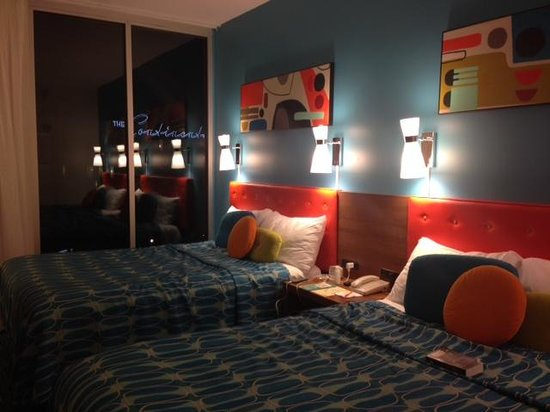 Universal's Cabana Bay Beach Resort: Our room on the 6th room in the Americana building