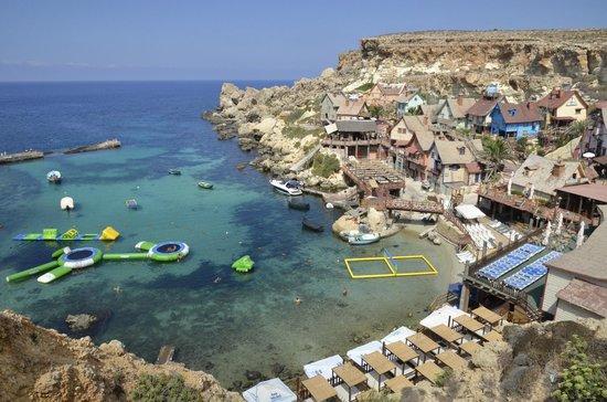 Popeye Village Malta: vista dall'alto