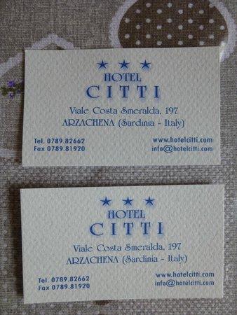 Dati dell' Hotel Citti