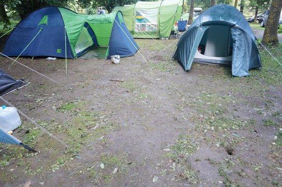 Camping Caravaning le Rioumajou: Emplacement terreux