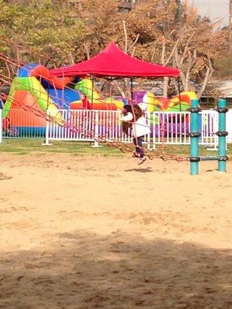 Parque Araucano: Brinquedo de cordas