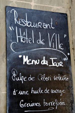 Restaurant Hotel de Ville : L'entrée