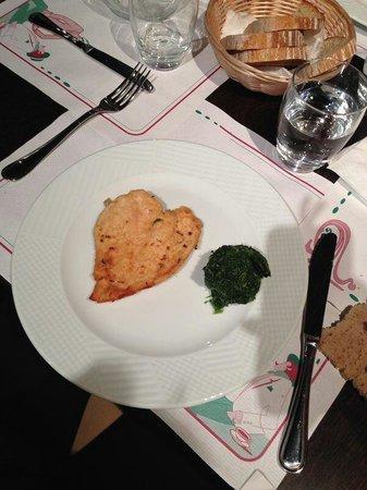 Caruso: Gli spinaci palesemente congelati serviti dal freezer sul piatto
