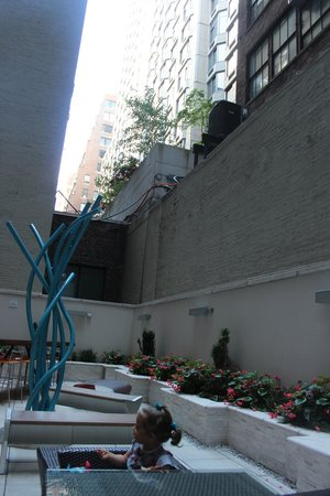 Courtyard New York Manhattan/Times Square West : The courtyard