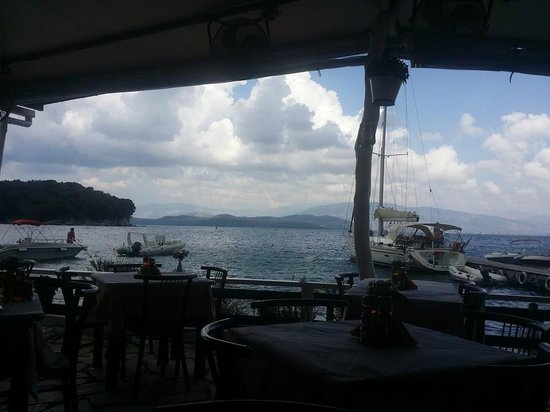 Nikolas Traditional Taverna: view from our table