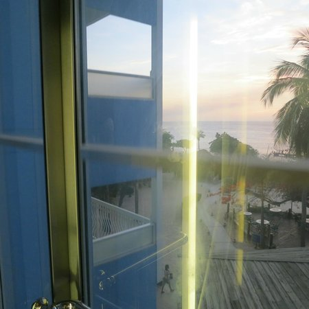 Hilton Curacao: View from the elevators