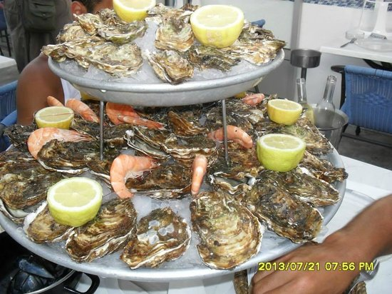 Restaurant La Barque Bleue: Fabuleux plateau de fruits de mer