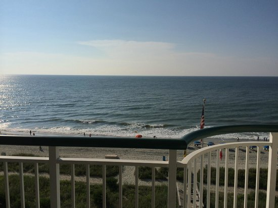 Hampton Inn & Suites Myrtle Beach/Oceanfront: View from our room.