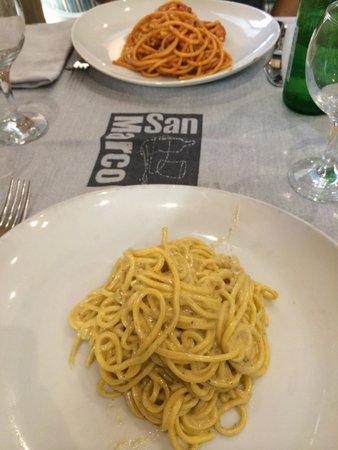 Pizzeria San Marco : Tonnarelli cacio e pepe ottimi
