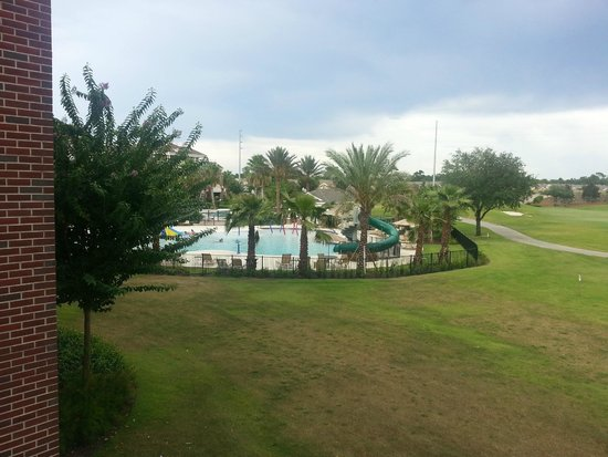 Reunion Resort of Orlando: From our Villa Balcony - Kids pool and a seperate adults pool
