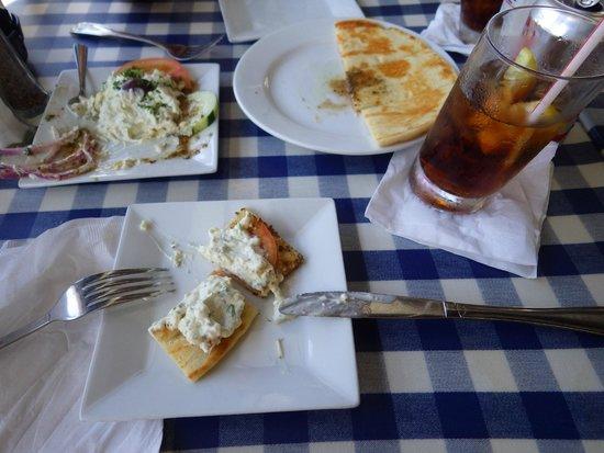 Athena Cafe & Bar: Tzatziki with Pita Bread