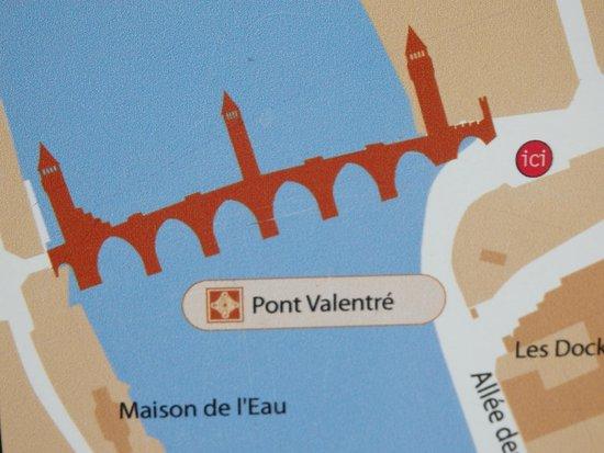 Pont Valentre : signalétique