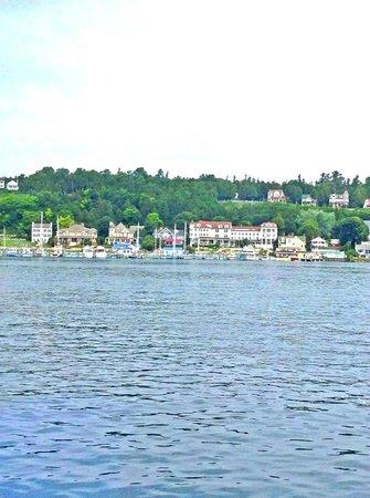 Star Line Mackinac Island Ferry: Almost to Mackinaw Island