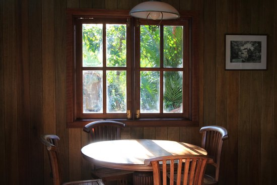 The Shorea : Living hall wooden table with sunset for reading leasure