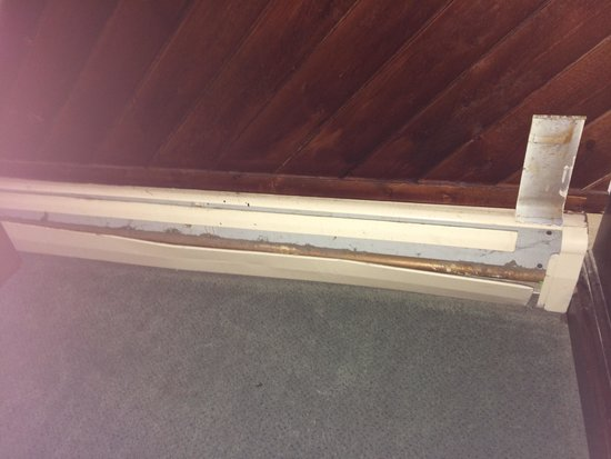 Elizabeth Inn and Convention Center: Baseboard heaters falling off the walls